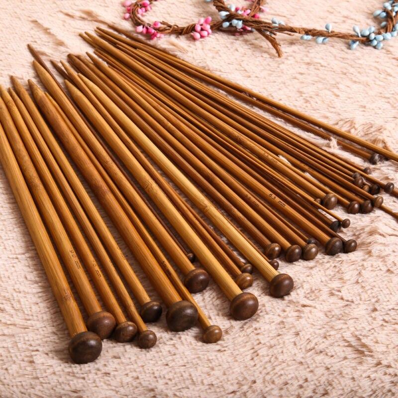 36pcs/Set 18 Sizes Single Pointed Carbonized Knitting Needles Crochet Hot Sale