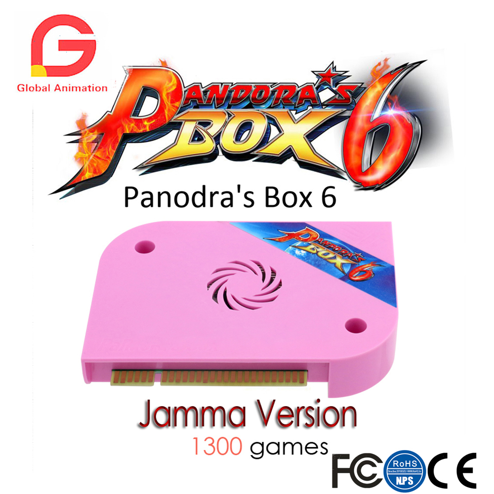 1300 in 1 Pandora Box 6 jamma board HDMI VGA CGA For arcade machine Can add extra 3000 games Support FBA MAME PS1 game 3D game