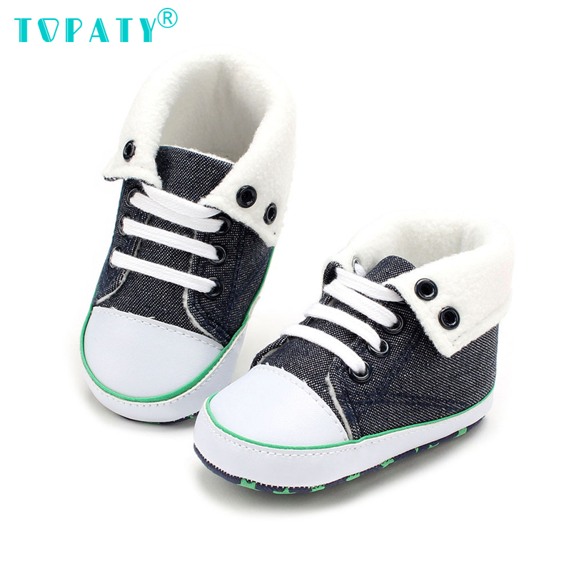 Baby boys Shoes Kid Sneakers non-slip Soft Soled babyGirls shoes denim fabric super warm First Walkers Zapatos de Bebe Sapatos