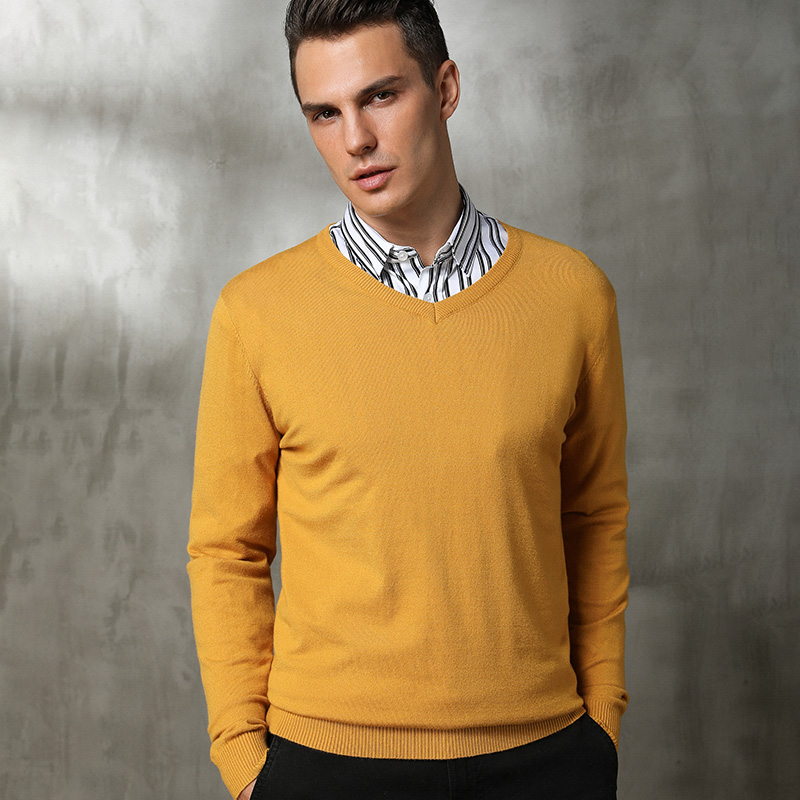 Man Pullovers Cashmere and Wool Knitting Sweaters 2018