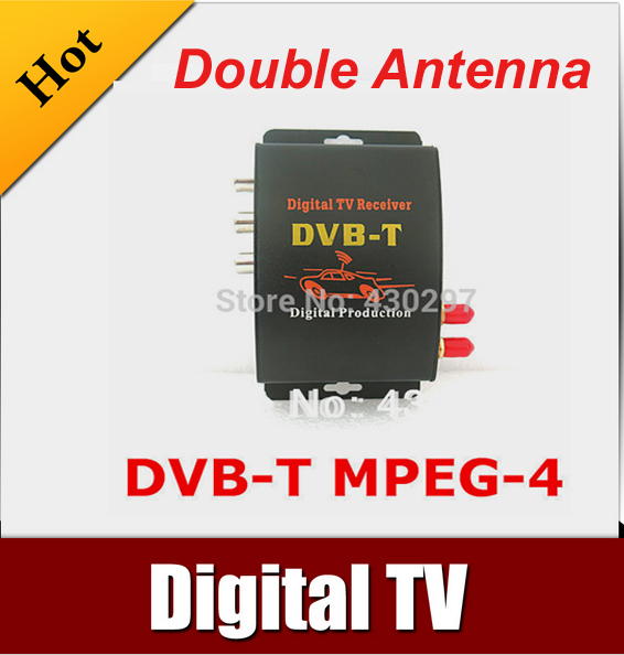 Car DVB-T MPEG-4 HD tuner Digital TV BOX receiver box Dual Antenna for European Free shipping автомобильные телевизоры mdh car hd dvb t