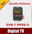 Car DVB-T MPEG-4 HD tuner Digital TV BOX receiver box Dual Antenna for European Free shipping