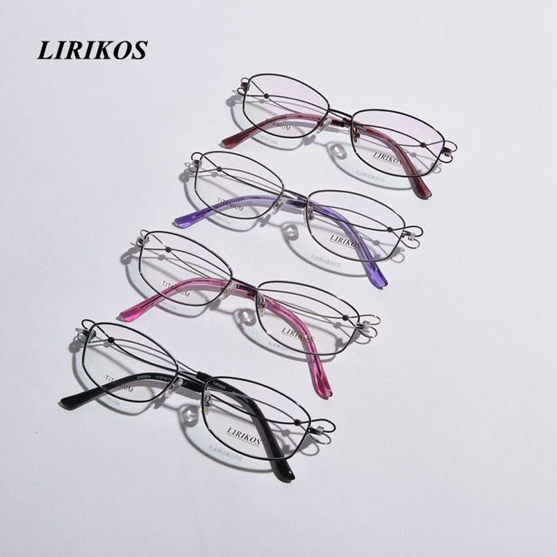 LIRIKOS Pure Titanium Intersection Business Women Reading Glasses Clear Eye Lens male Spectacle Eyewear Accessories