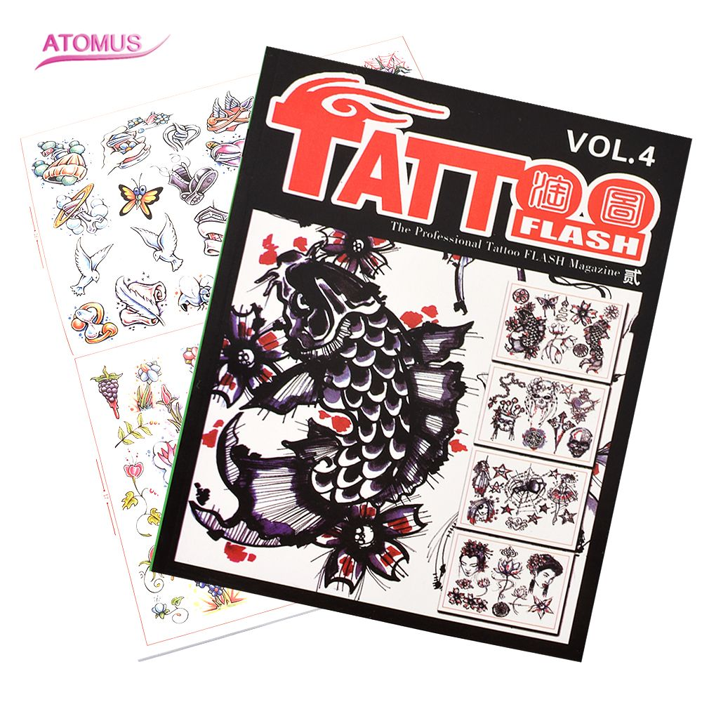 Tattoo Design Book Professional Tattoo Supplies Accessories Flash Magazine Books Sketch Supply For Tattoo Body Art for Artist