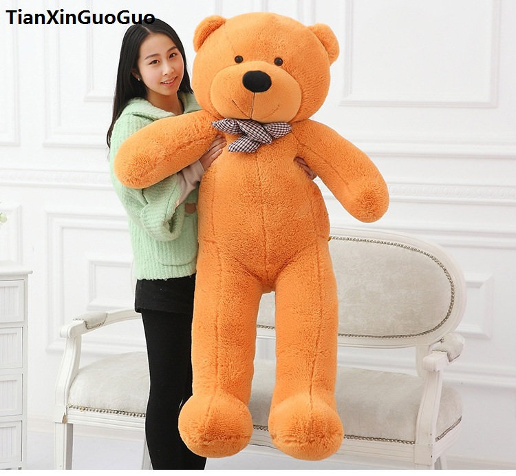 fillings toy light brown Teddy bear plush toy soft stuffed bear large 160cm doll hugging pillow Christmas gift b2777 stuffed toy lovely scarf teddy bear plush toy huge size 170cm dark brown bear hugging pillow surprised christmas gift h448