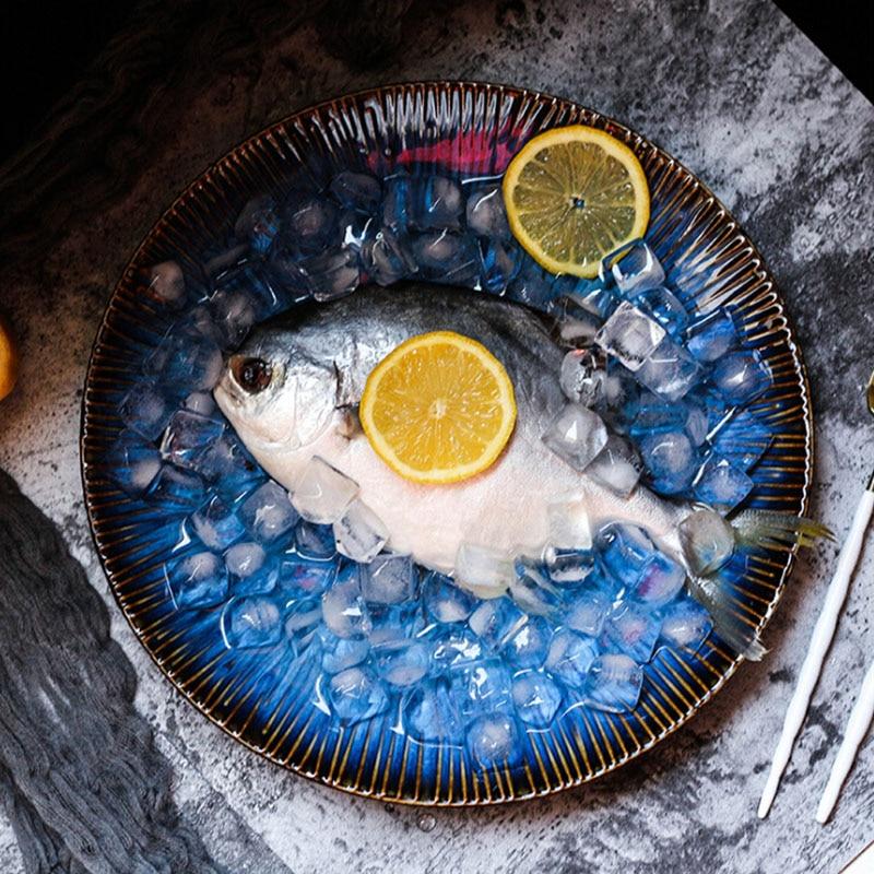 Western-style-food-steak-ceramic-dish-deep-blue-pasta-plate-household-Fresh-Fruit-Salad-fish (1)