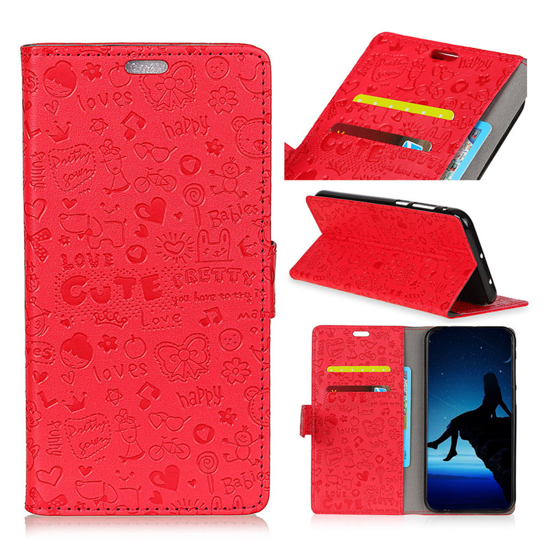 For LENOVO K8 NOTE PU Leather wallet case cover,for LENOVO K8 PLUS cartoon magic girl pu leather stand case funda