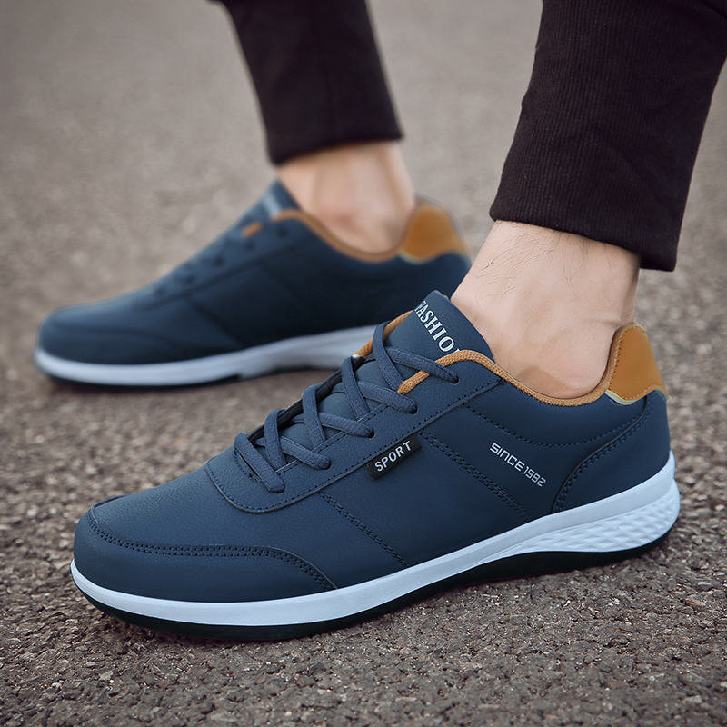 OZERSK Men Sneakers Fashion Men Casual Shoes Leather Breathable Man Shoes Lightweight Male Shoes Adult Tenis Zapatos Krasovki Men's Shoes Shoes
