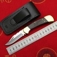 LOVOCOO #Bu#CK112 brass + wooden handle 440C blade folding fruit knife hunting pocket outdoor EDC tool kitchen universal knife