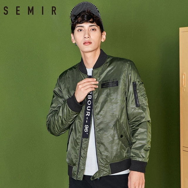 Semir baseball jacket Men 2018 Winter Korean Version Fashion parka Men Coat Short Cotton Warm Thin outwear For Men Clothing