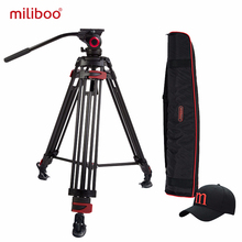 2017 miliboo Iron Tower Professional Portable Video Tripod DSLR with Hydrualic Head /Digital Camera Camcoder  Stand tripod