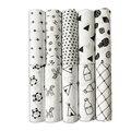 Cobertor do bebê de Musselina de Algodão Do Bebê Swaddles Para Preto & Branco Gaze Cobertores Do Bebê Recém-nascido Cobertor de Toalha de Banho De Algodão De Bambu