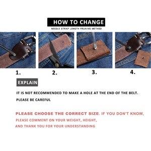 Image 5 - Novo designer de cintos homens alta qualidade marca luxo cinto de couro pino fivela preto negócios cinta de calças cinturones hombre cinto