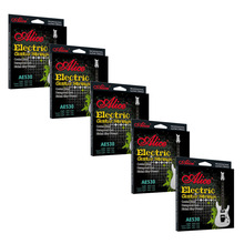5 Sets Alice AE530-L Professional Electric Guitar Strings Light 6-string Set 10 sets lot alice a208 acoustic guitar strings stainless steel light super light