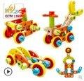 Veículos de engenharia Carro De Madeira Montessori Brinquedo Blocos de Construção de Brinquedos Infantis de Madeira Requintado Presente da Criança