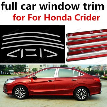 best selling Stainless Steel Decoration Strips for H-onda Crider With Middle Pillar Car Exterior Accessories full Window Trim
