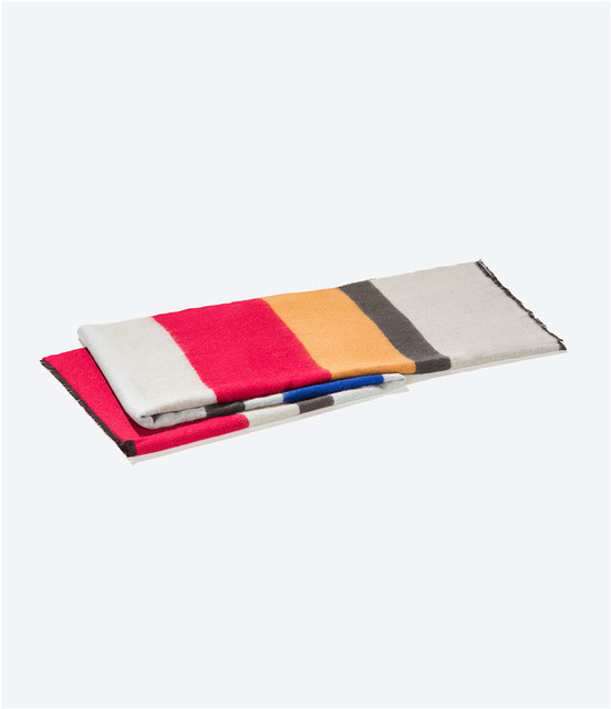 za Women Winter Arrival 2016 Soft Wide Stripe Scarf New Design Dry Acrylic Basic Rainbow Shawls Women Scarves Big Size 200*85CM
