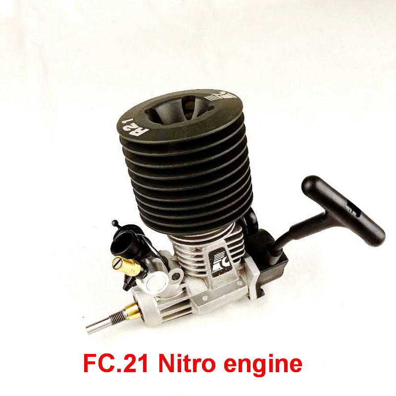 Nitro engine rc 1 8 Free Shipping FC 21 PULL START Rear Exhaust NITRO ENGINE for