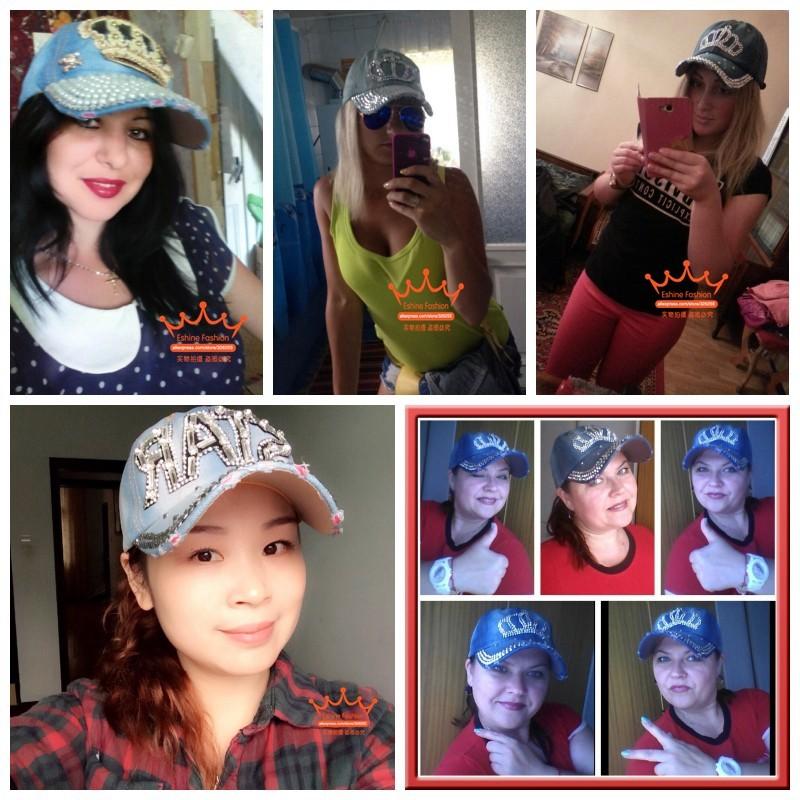 High Quality WOMEN brand baseball cap new fashion rhinestone crystal denim snapback caps wholesale woman hip hop snapbacks hats 21