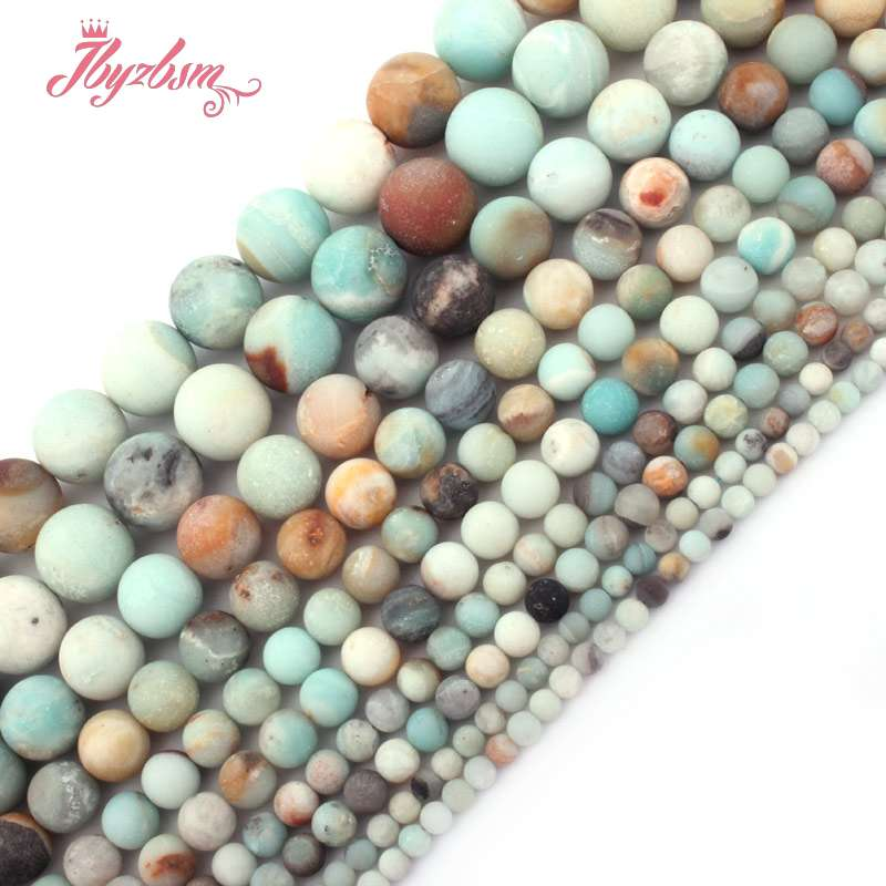 4,6, 8,10mm Multicolor Frost Putaran Amazonite Bead Batu Alam Beads - Perhiasan fashion - Foto 1
