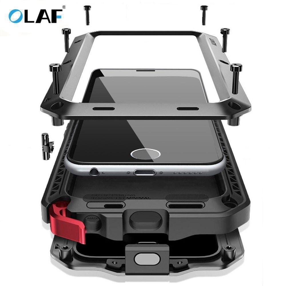 OLAF Heavy Duty Cassa Del Metallo di Caso Della Copertura Antiurto Per Samsung Galaxy S4 S5 S6 S6 S7 bordo S9 S8 Più nota 8 5 4 Della Copertura Antiurto