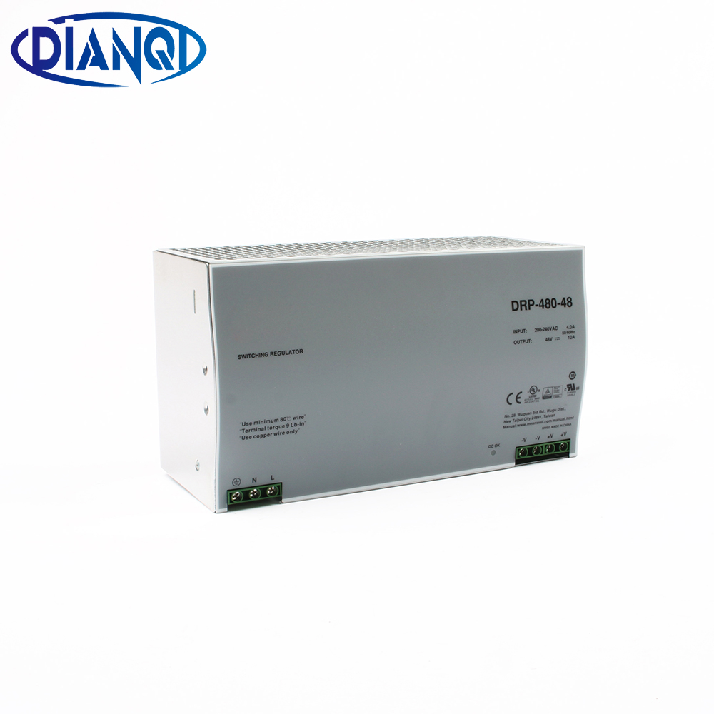 цена на MEAN WELL Din rail power supply 480w 24V power suply meanwell ac dc converter DRP-480-24 480W 20A 24V Industrial Original