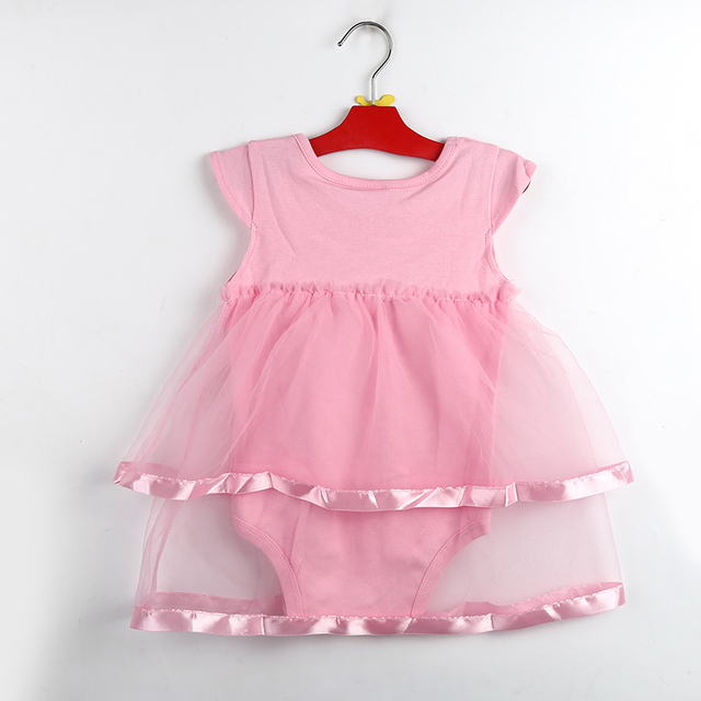 dc9630a0ec5 Hot Sale New Born Baby Dress Summer Cotton Bow Baby Rompers For girls  Summer Kids Infant Clothes ...