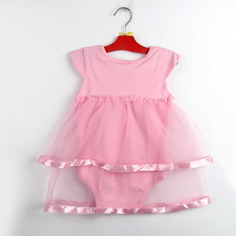 61f3f3859 ... TANGUOANT Hot Sale NewBorn Baby Dress Summer Cotton Bow Baby Rompers  For girls Summer Kids Infant ...