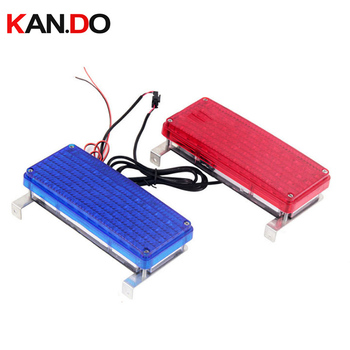 12V red blue flashing indicator light Wired flashing light Alarm Strobe Flashing LED Warning Light FIRE Siren for patrol car фото