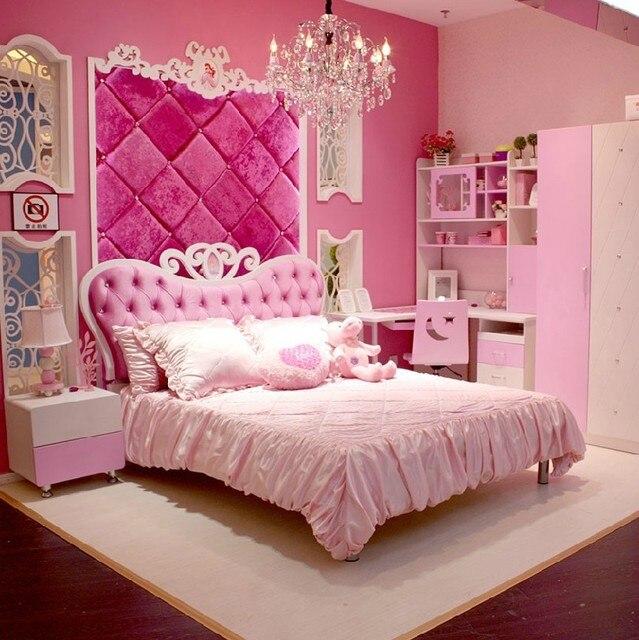 stile europeo mdf rosa della ragazza della principessa 4 pz camera ...