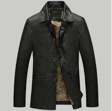 TOP 2016 PU Leather-based Jacket Males Manufacturers Excessive High quality Velvet Heat Winter Motorbike Enterprise Informal Mens Leather-based Jackets Coats,