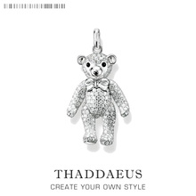Pendant Teddy Bear,2018 New Fashion Eternity 925 Sterling Silver Jewelry Thomas Bijoux Necklace Accessories Gift For Ts Woman