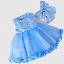 Robe Fille Baby Girl Dress Mesh Gauze Pettiskirt Lace Gown Vintage Baptism Birthday Party Wedding Infant Prom elegant dress