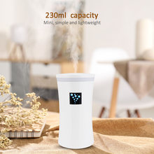 230ML Mini diffuser Ultrasonic Air Humidifier USB diffusers Mist Maker สำหรับรถสำหรับบ้านไฟ LED(China)