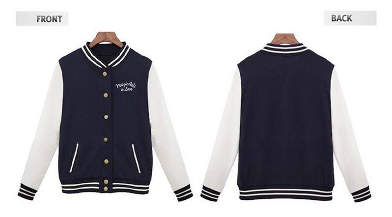 HTB1KAaWXffsK1RjSszbq6AqBXXaY Women Baseball Jacket Casacos Femininos Preppy College Jackets Bomber Jacket 2018 New Autumn Winter Coats Basic Outwear XXL
