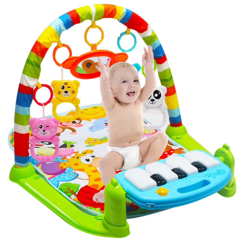 Kids Children Fitness Rack Baby Toys Piano Music Blanket Play Plastic Intellectual Development YH-17