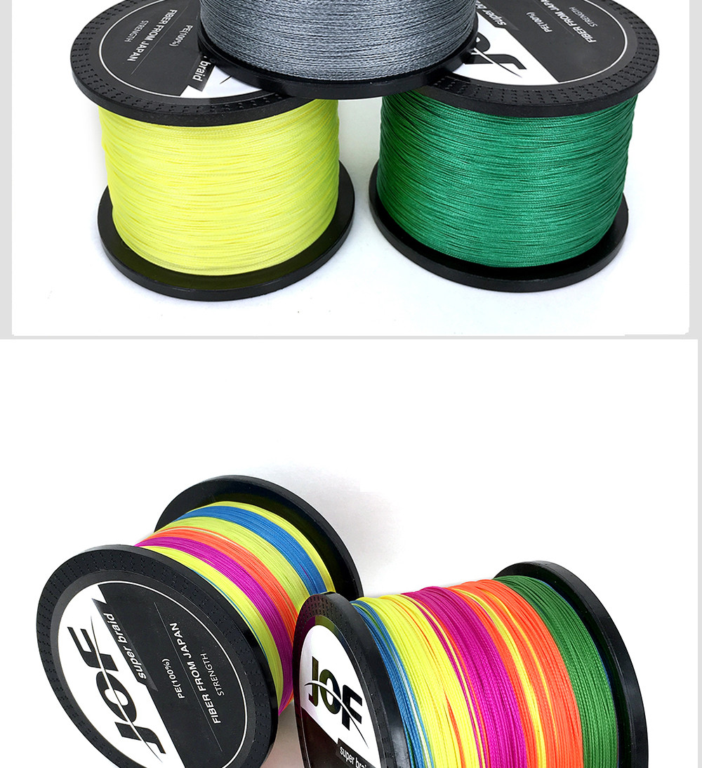 1000M Multifilament Fishing Line 100% PE Braided 4 threads fly fishing line for carping fishing  30 40 50 60 80 100lb 3