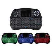 2 4GHz 92 Keys Wireless Mini Keyboard Touchpad Mouse 3 Colors LED Backlight For Android TV