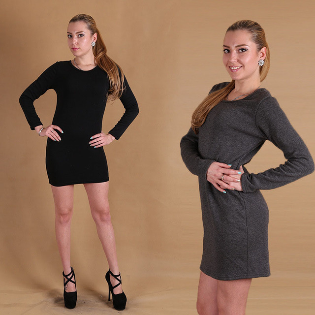 09ecfdb62daf Stile casual plus size s-3xl donne abiti invernali a maniche lunghe abito  invernale pile