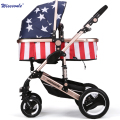 Wisesonle Value fold Baby Stroller Pram Children Pushchair Colour Beige Red Blue Pink Purple Flag hot baby stroller