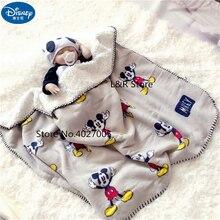 Детское одеяло с Микки Маусом из мультфильма Дисней, плотное мягкое флисовое детское одеяло с облаками, детское одеяло для мальчиков и девочек, подарок 70x100 см