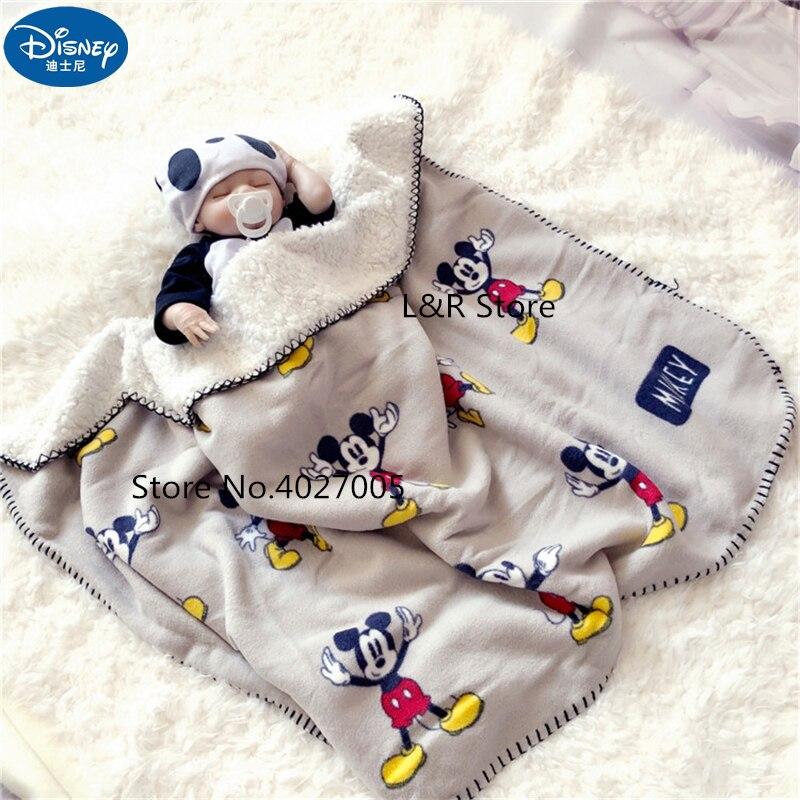 Disney Cartoon Mickey Mouse Four Seasons Thicken Super Soft Fleece kids Cloud Blanket Children Boy Girl Throw Blanket Mat Gift(China)