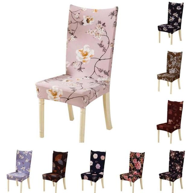 Vintage Flower Pattern Chair Covers Spandex Covers For Kitchen Chairs  Modern Armchair Seat Covers For Dining