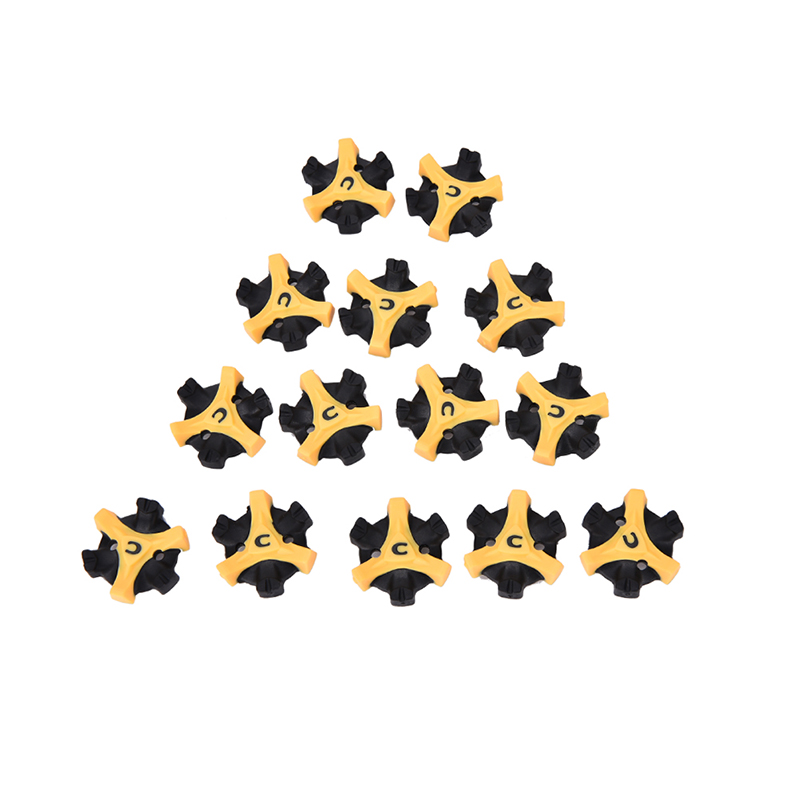 14PCS Golf Shoe Spikes Replacement Champ Cleat Fast Twist Q-Lok For Foot Training Aids Shoe Spikes