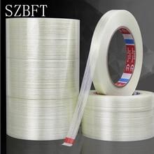 Adhesive-Tape Transparent Striped Strong Single-Side 5-15mm--50m SZBFT 1pcs