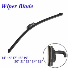 "tehotech Car Frameless Wiper Blade Natural Rubber Bracketless Auto Soft Windshield 14""16""17""18""19""20""21""22""24"" FREE SHIPPING"