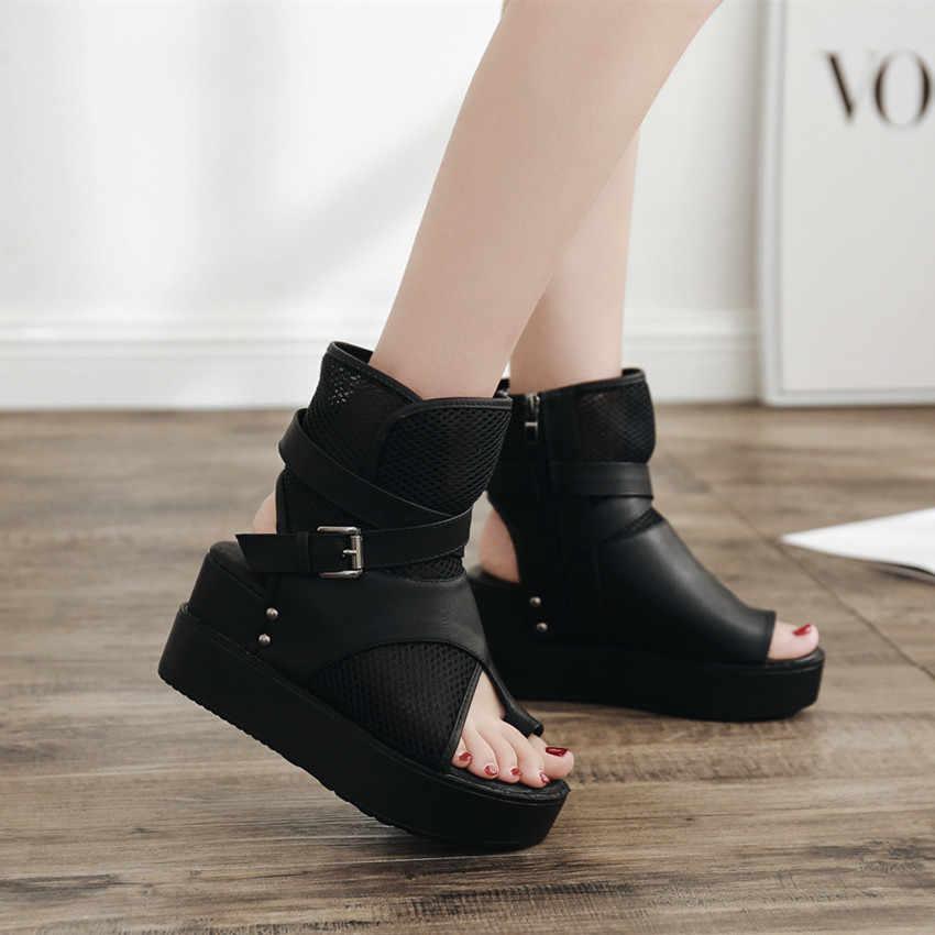 Mature เปิด Toe แบนรองเท้าแตะผู้หญิงด้านหน้าด้านหลังผู้หญิงรองเท้าสายคล้องคอ Basic รองเท้าแตะ