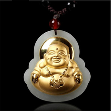 TJP 2018 New Arrival Stylish Fashion Jade Pendants For Men Women Buddha Necklaces