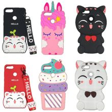 For Huawei Enjoy 8/nova2 lite 3D Cartoon Ice cream Cat Soft silicone Cover Case For Huawei Y7 Pro 2018/ Y7 prime 2018(China)