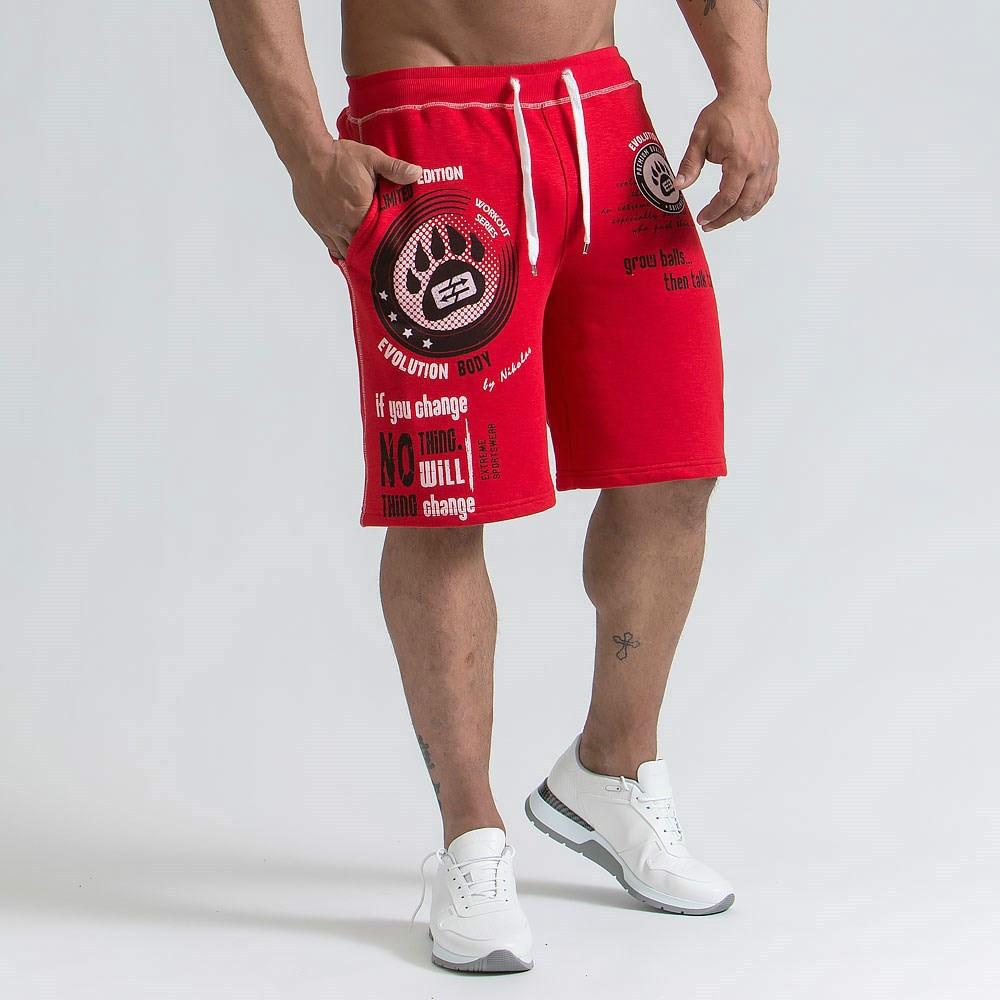 Mens Brand Men's Slim Fit Short Trousers Fitness Bodybuilding Jogger Men Shorts Durable Sweatpants Fitness Workout Cotton Shorts